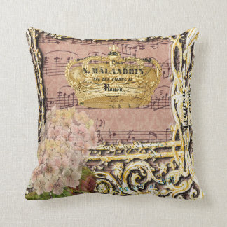 Gold Crown Throw Pillow : French Music Pillows - French Music Throw Pillows Zazzle