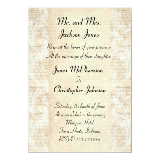 Antique Music Sheet Wedding Invitation