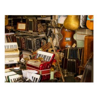 Antique Music Store Postcard