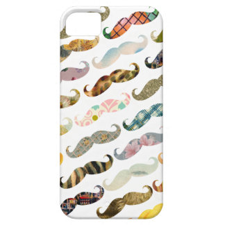 Antique Mustache with Vintage Patterns iPhone Case