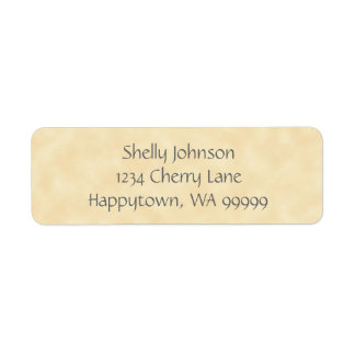 Antique Natural Parchment Return Address Labels
