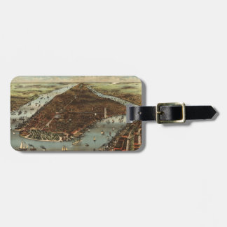Antique New York City Map #2 Luggage Tag