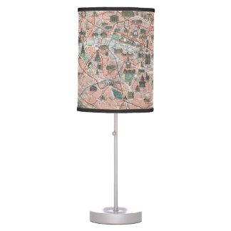 Antique old Paris map Monumental et Metropolitain Table Lamp