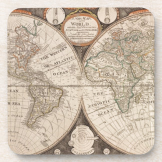 Antique Old World Map 1799 Coaster