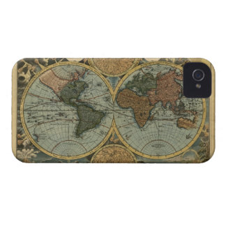 Antique Old World Map iPhone 4 Phone Case