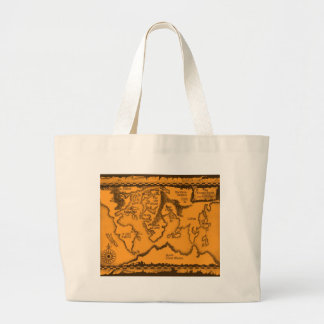 Antique, Old World Map Jumbo Tote Bag