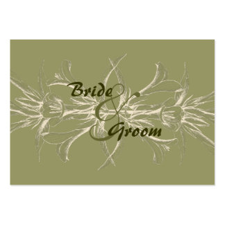 Antique Olive Floral Save the Date Business Card Template