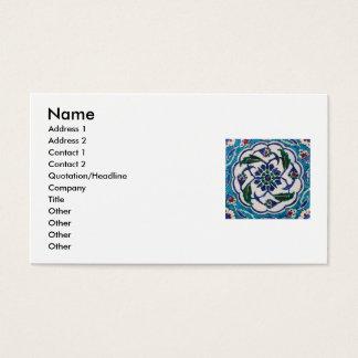 Antique Ottoman Tile Design Custom Business Cards