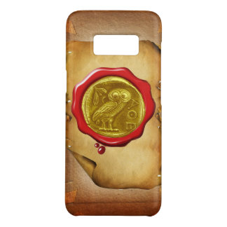 ANTIQUE OWL GOLD YELLOW RED WAX SEAL parchment Case-Mate Samsung Galaxy S8 Case