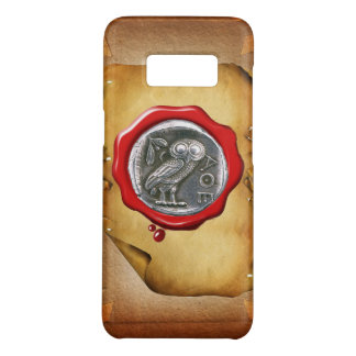 ANTIQUE OWL SILVER RED WAX SEAL parchment Case-Mate Samsung Galaxy S8 Case