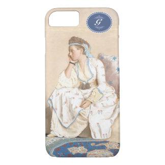 Antique painting. Liotard- (1756) Turkish dress. iPhone 8/7 Case