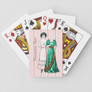 Antique Paper Doll for Ladies Playing Cards