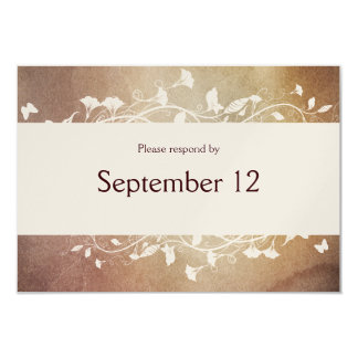 Antique Paper RSVP with envelopes Card