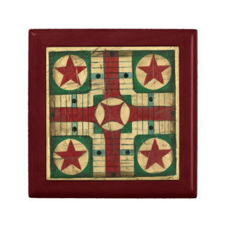 Antique Parcheesi Game Board by Ethan Harper Gift Box