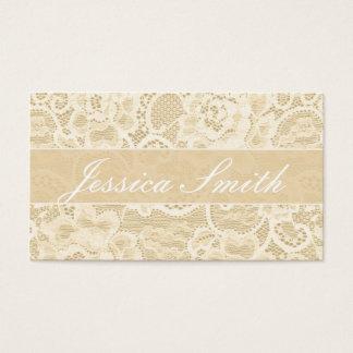 Antique Peach Lace Fancy Elegant Business Card