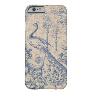 Antique Peacock Toile Barely There iPhone 6 Case