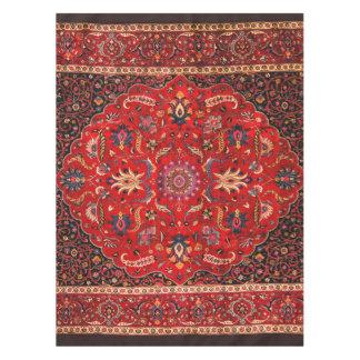 Antique Persian Mashhad Rug Tablecloth