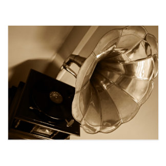 Antique Phonograph Gramophone Gifts Music Lovers Postcard