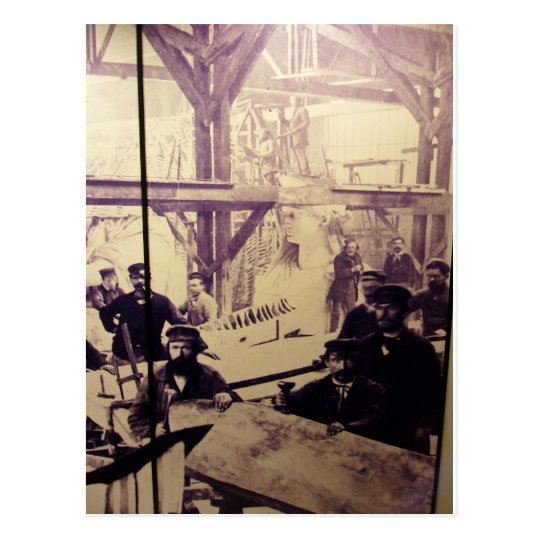 Antique Photo Statue of Liberty Factory Postcard