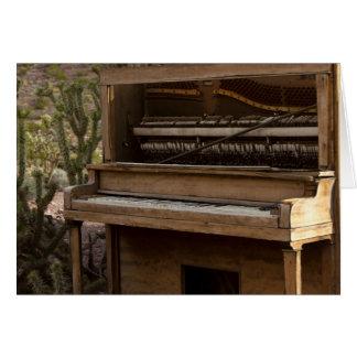 Antique Piano Card