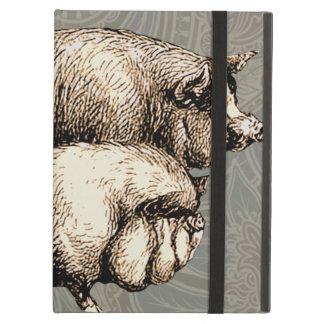 Antique Pigs Vintage piggy drawing iPad Air Case