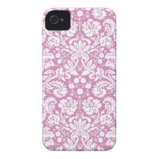 Antique pink damask pattern Case-Mate iPhone 4 cases