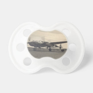 antique plane baby pacifier