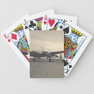 antique plane bicycle playing cards