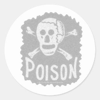 Antique Poison Label Transparency