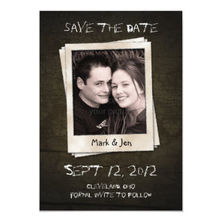 Antique Polaroid Unique Save The Date Announcement