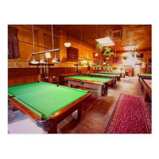 Antique Pool Tables Postcard