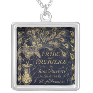 Antique Pride and Prejudice Peacock Necklace
