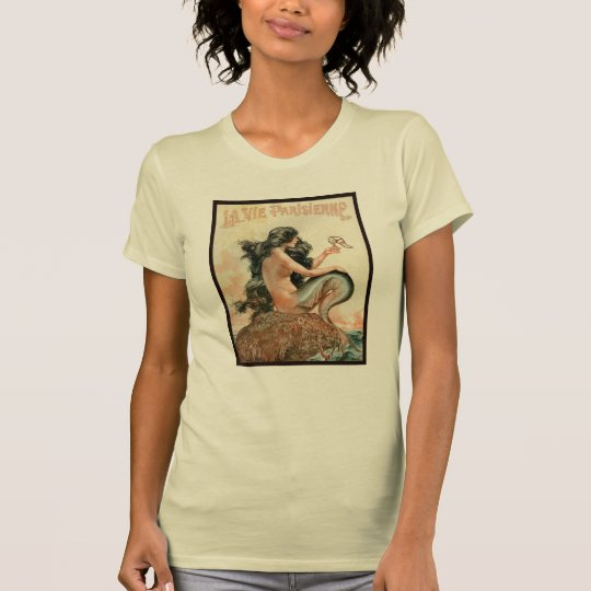 Antique print of a mermaid holding a shoe T-Shirt