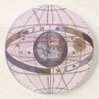 Antique Ptolemaic Solar System, Andreas Cellarius Coaster