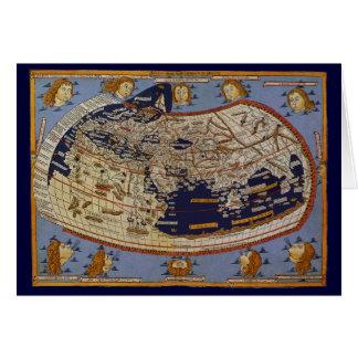 Antique Ptolemaic World Map, Johannes of Arnsheim Card
