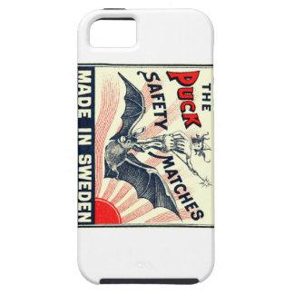 Antique Puck Riding Bat Swedish Matchbox Label iPhone 5 Case