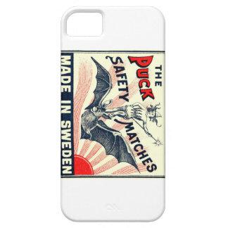 Antique Puck Riding Bat Swedish Matchbox Label iPhone 5 Cover