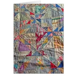 Antique quilt blank cards