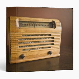 Antique Radio Vinyl Binders