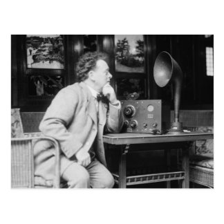 Antique Radio, early 1900s Postcard