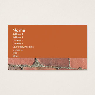 Antique Red Bricks Business Card