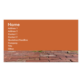 Antique Red Bricks Double-Sided Standard Business Cards (Pack Of 100)