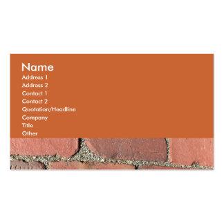 Antique Red Bricks Business Card Template