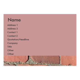 Antique Red Bricks Pack Of Chubby Business Cards
