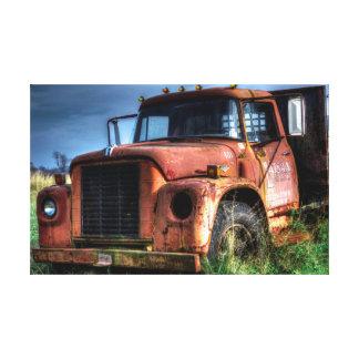 Antique Red International Pickup Truck Canvas Print