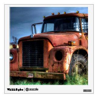 Antique Red International Pickup Truck Wall Sticker