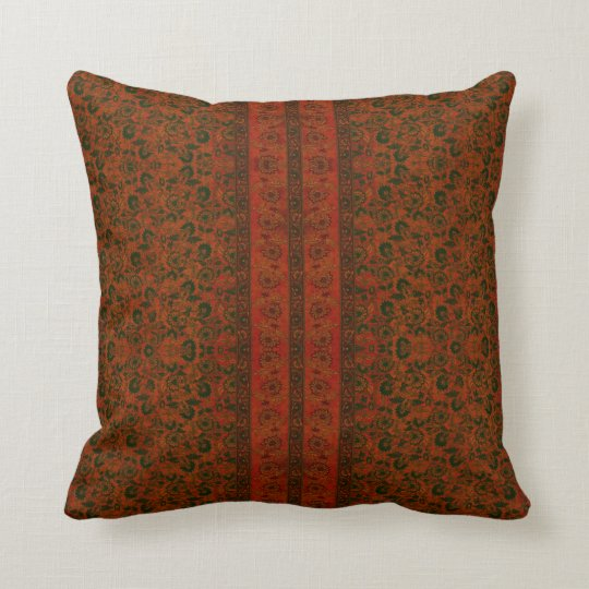 Antique Red Oriental Rug Throw Pillow