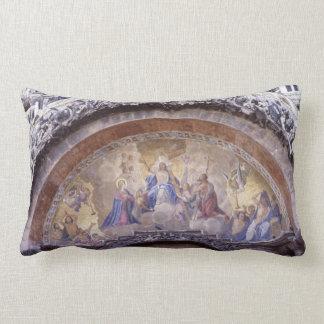Antique Religious Mural Gothic Church Bible Lumbar Pillow