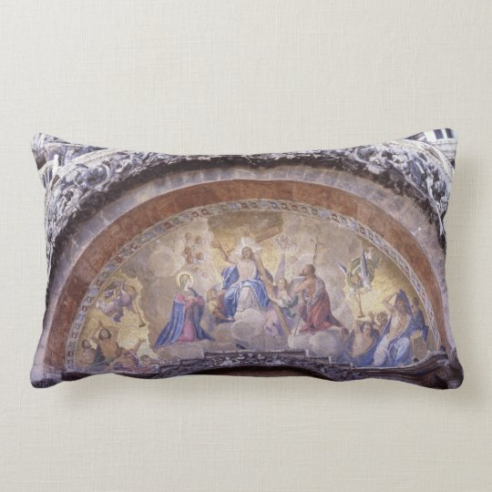Antique Religious Mural Gothic Church Bible Lumbar Pillow
