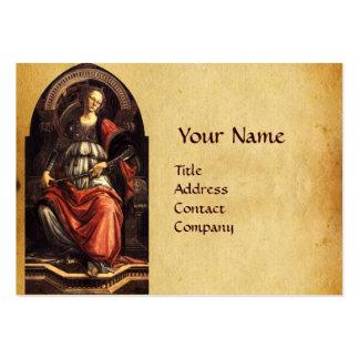 ANTIQUE RENAISSANCE TAROTS 11  FORTITUDE PARCHMENT BUSINESS CARD